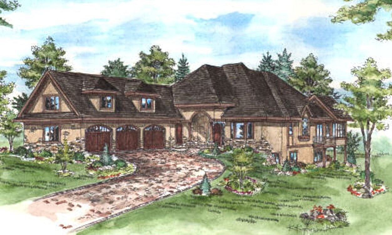 Credit River Estate home rendering by RDS Architects
